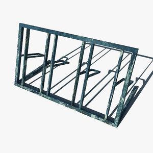 3d simple bicycle rack