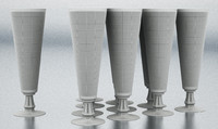 3d max nordsk kravat champagne glass