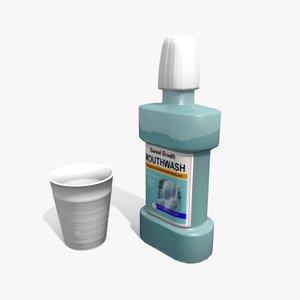 mouthwash plastic cup 3d 3ds