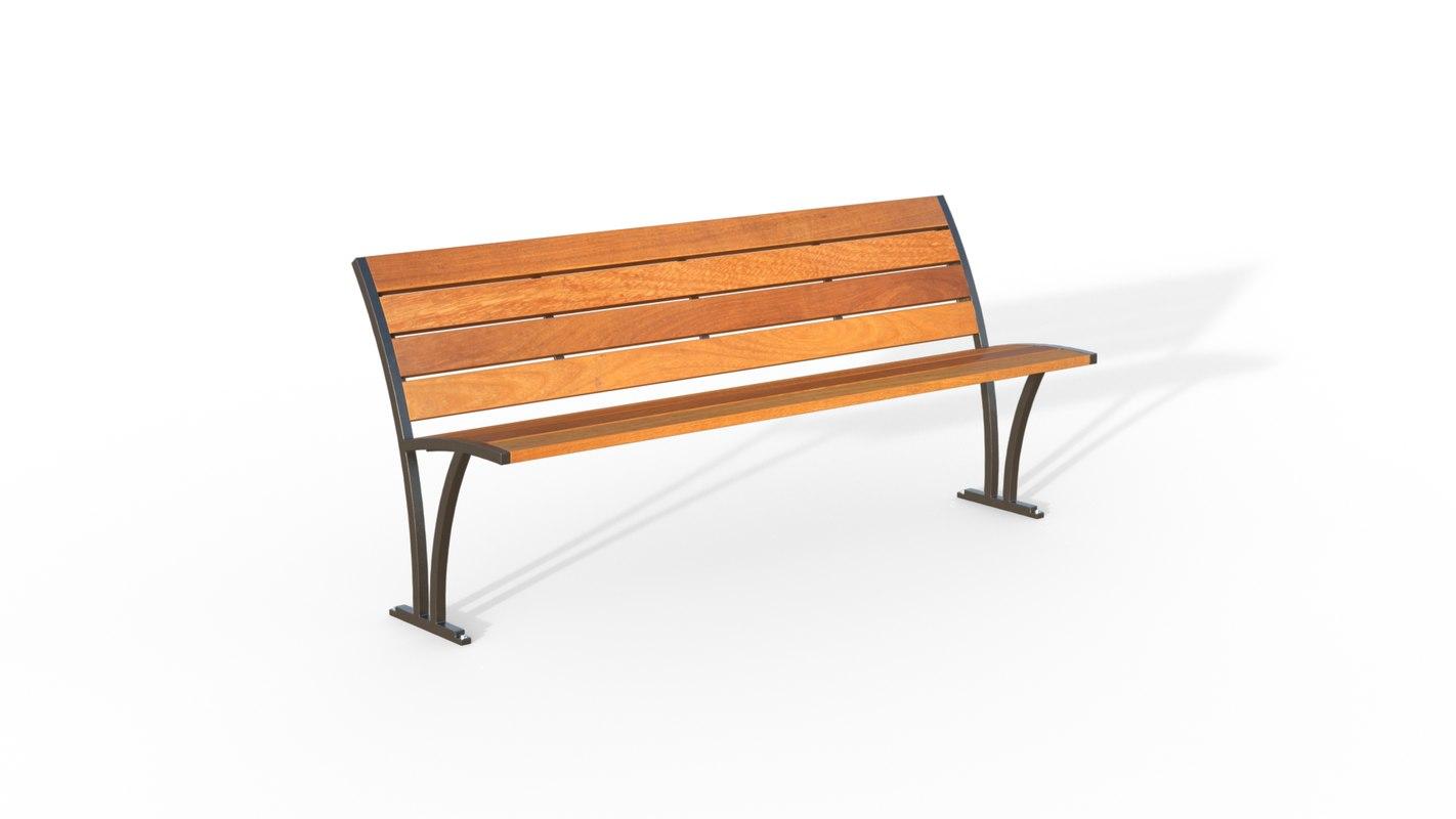 3d model freesia bench