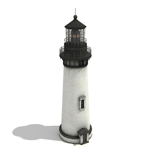 low-poly light tower 3d model