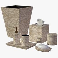 3d pearl seashell bathroom accessory model