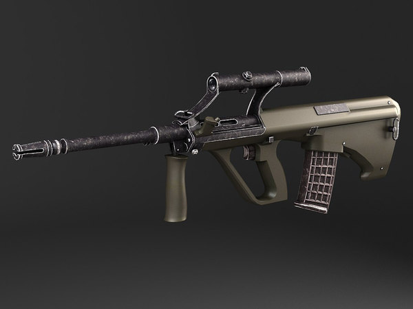 3d model of steyr aug a1 assault rifle