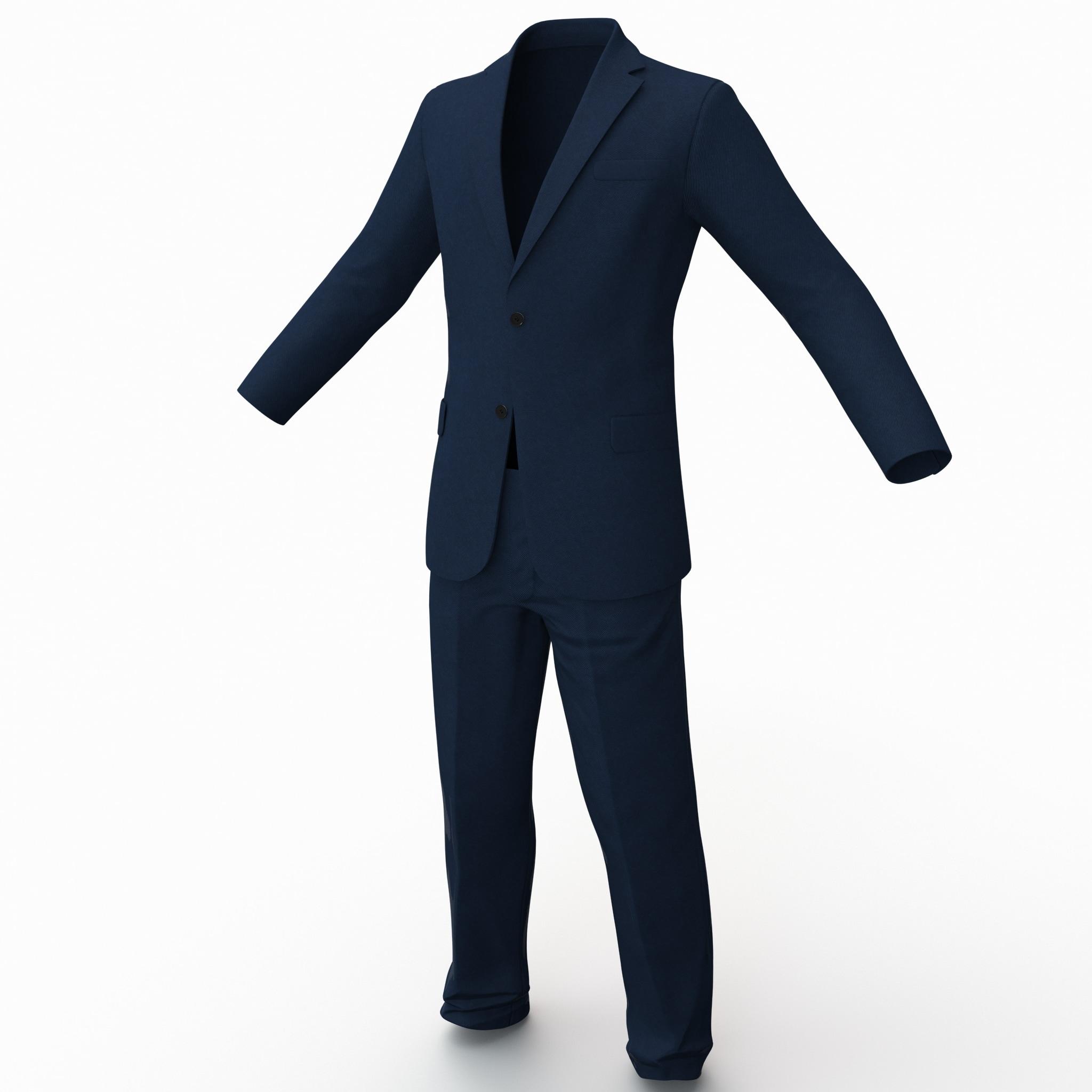3d model suit 3