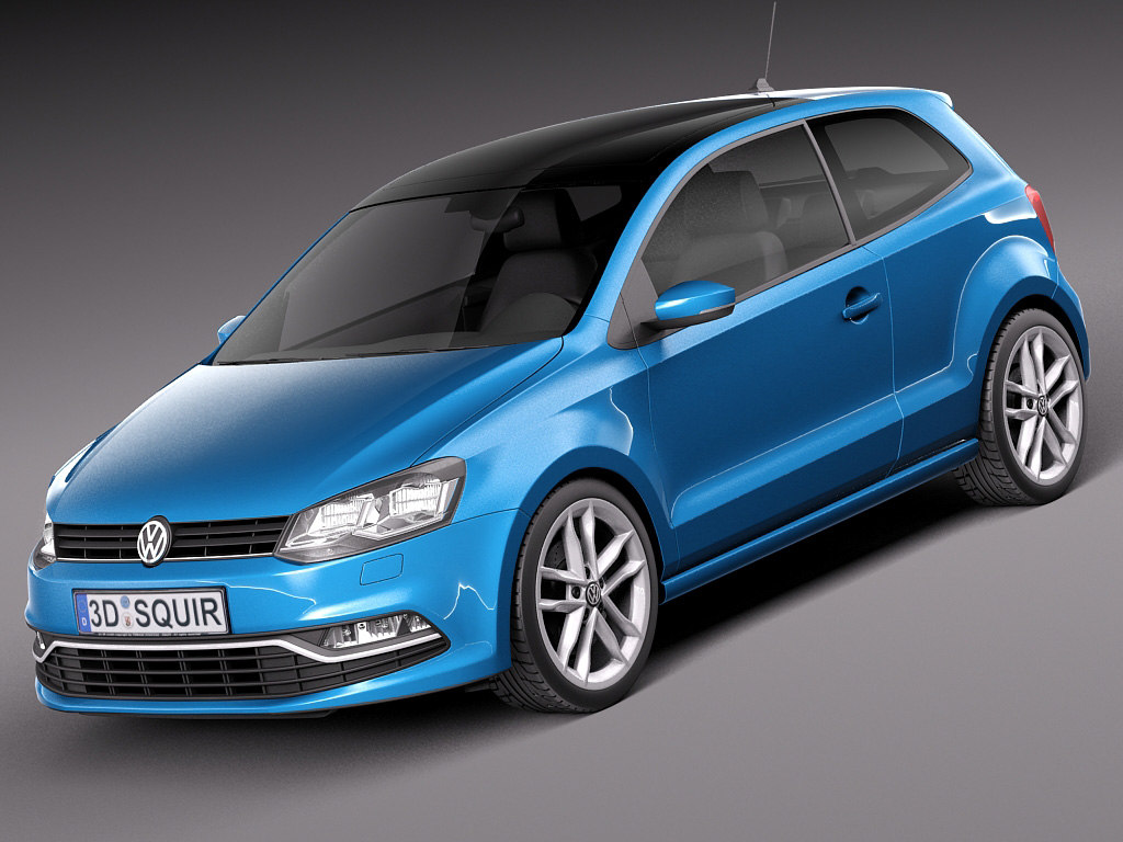 2015 volkswagen 3door 3d model