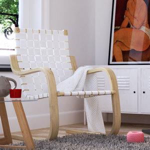free chair alvar aalto 3d model