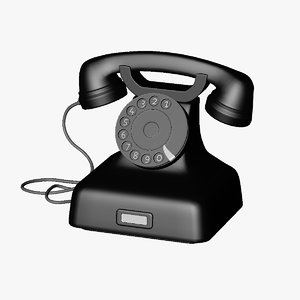 retro telephone 3d c4d