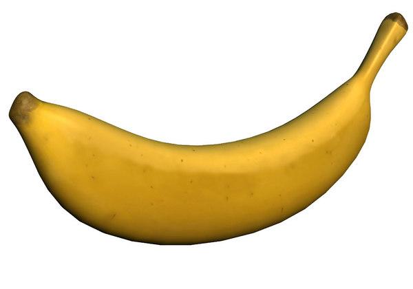 dessert banana fruit 3d model