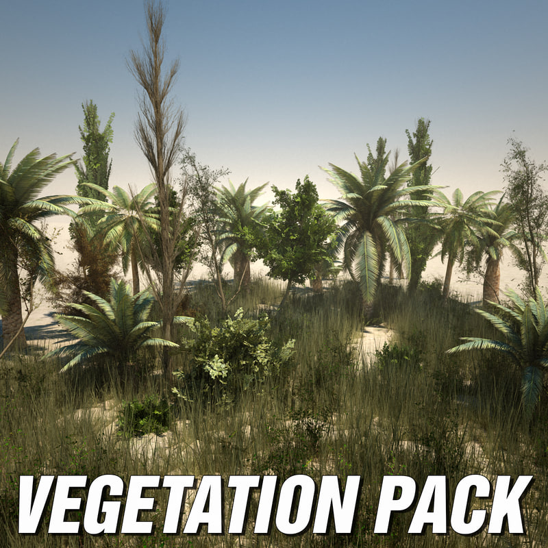 3d model desert plants pack