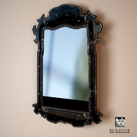 3d model chelini mirror art 243