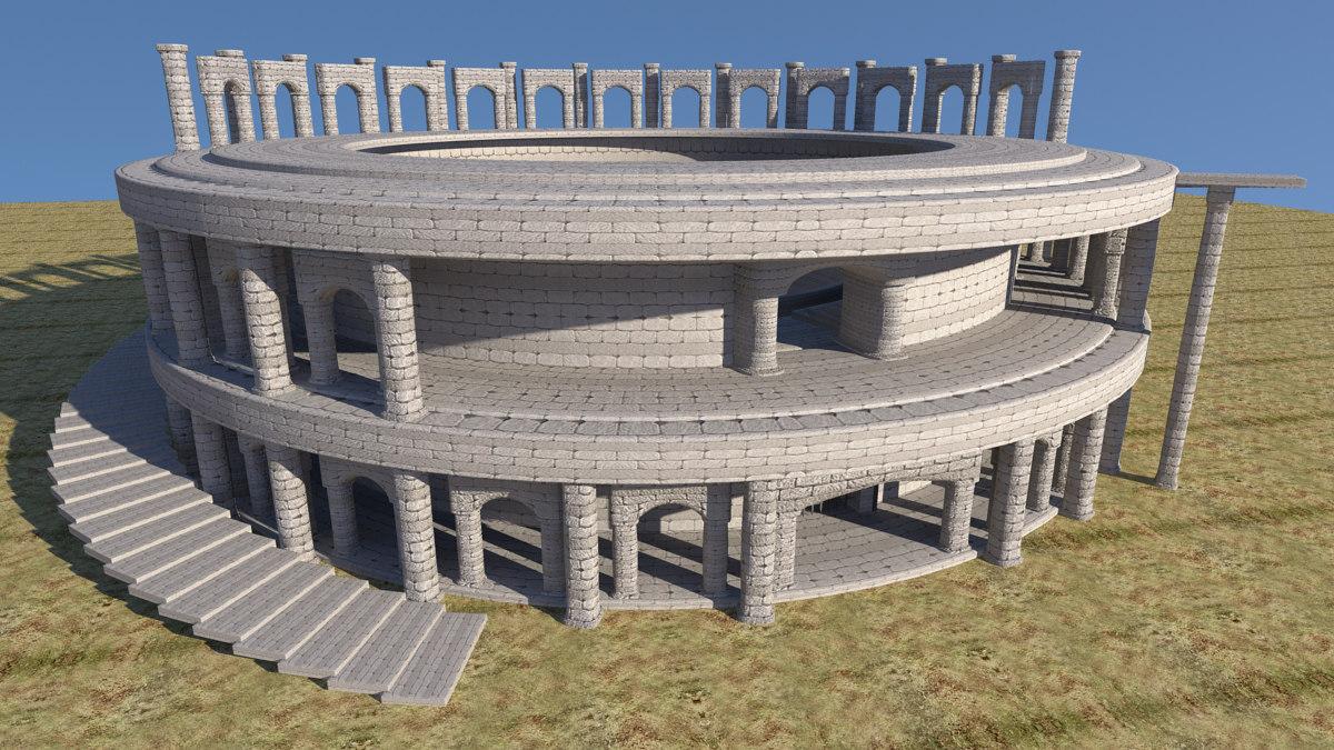 coliseum 3d ma