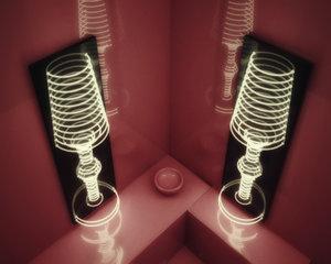 cinema4d unusual wall lamp