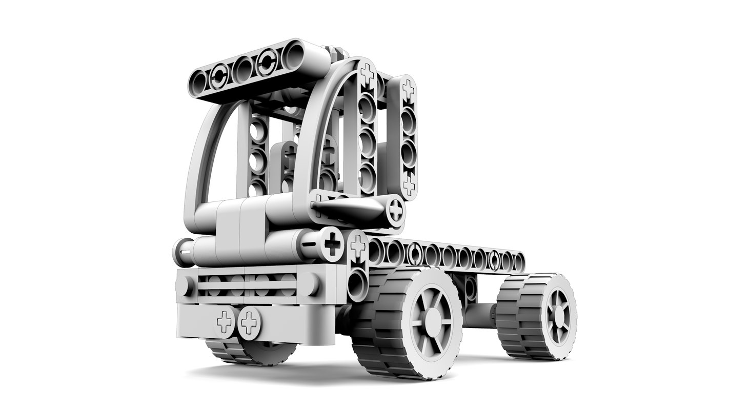 lego truck 3d obj