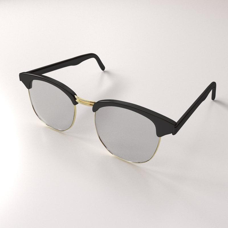 eyeglasses eye glass 3d 3ds