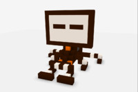 free block brown 3d model