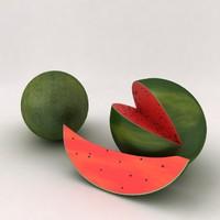 3dsmax watermelon water melon