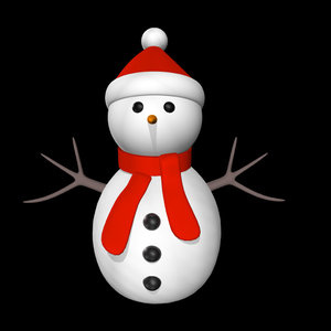 3d model of christmas frosty man