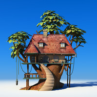 cartoon tree house