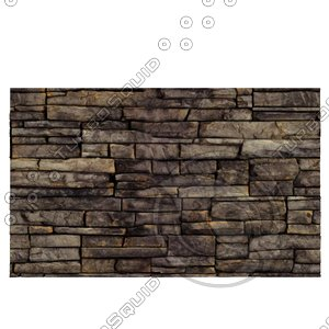 3d model wall brick dirt