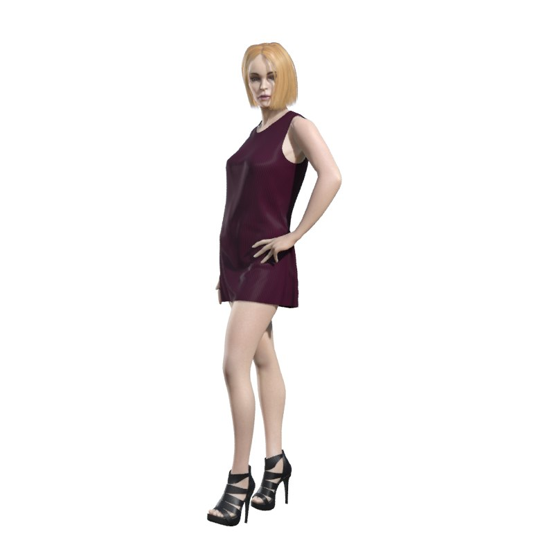 3d model human woman girl