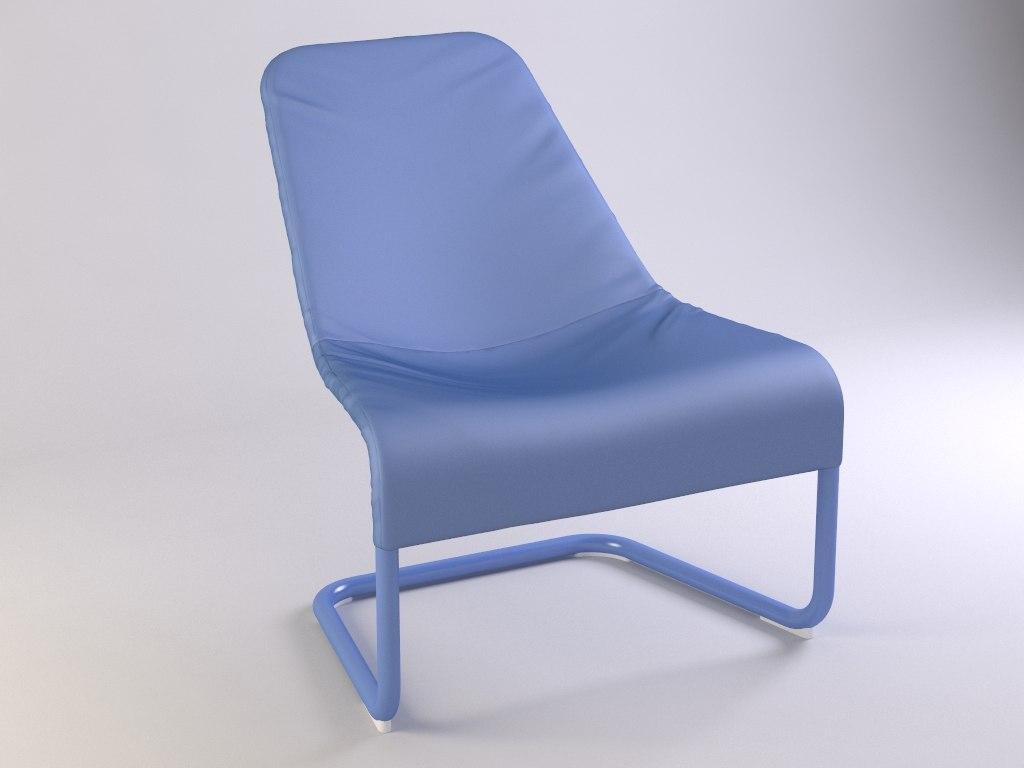 3ds max chair locksta ikea