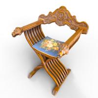 3d model lion chair