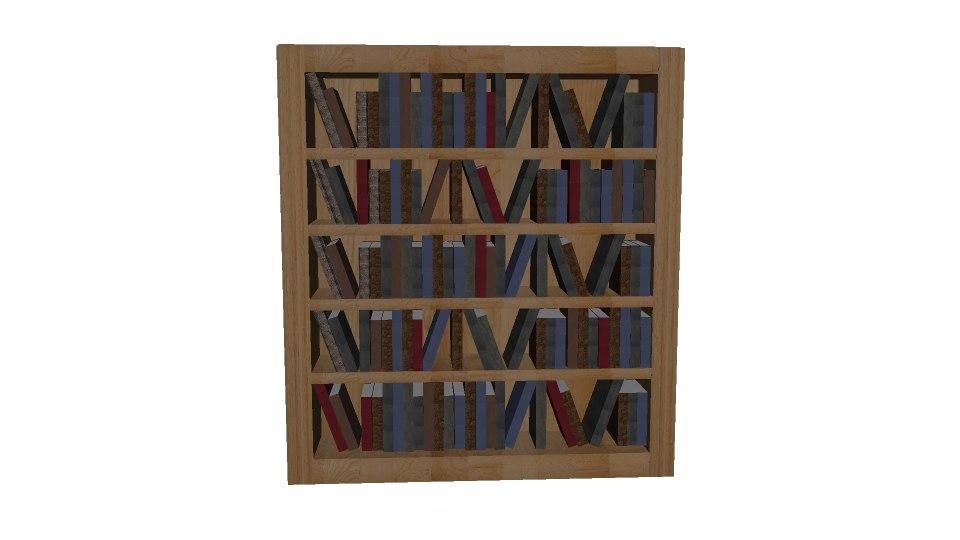 3d model library books