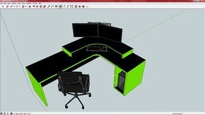 3ds green gaming desk