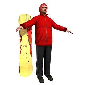 boarder player s 3d max