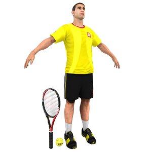 3d model tennis player