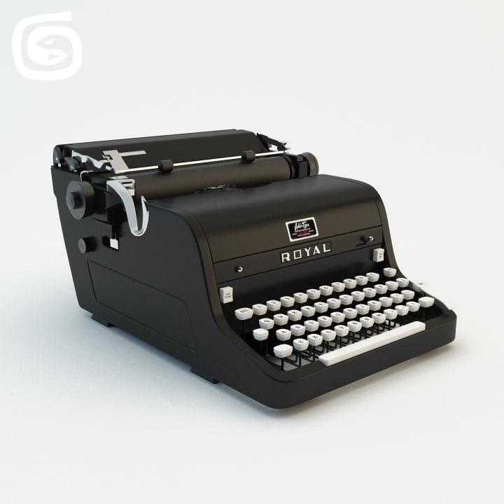 royal typewriter obj
