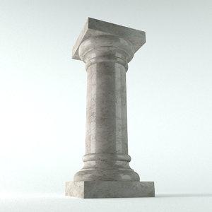 3d model pedestal column