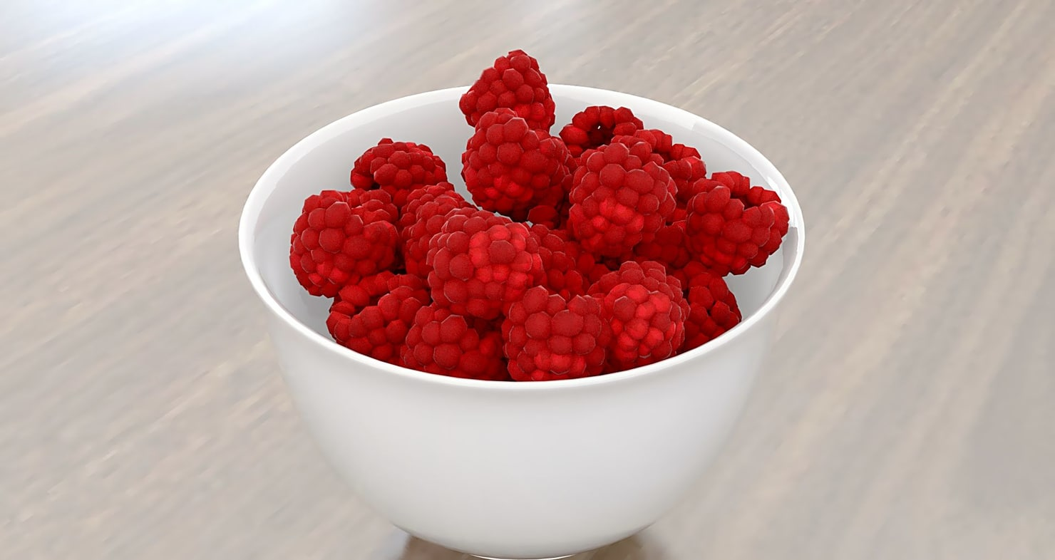 raspberries 3d model
