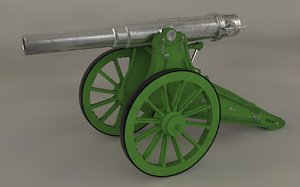 6-inch siege cannons 3d model