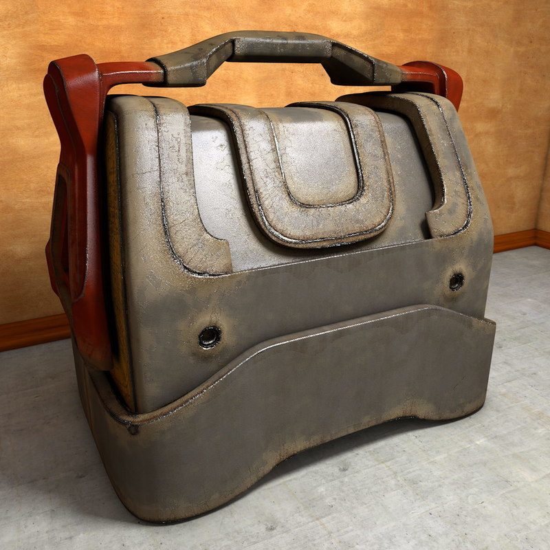 3d model worn transport box