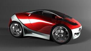 free concept car 3d model