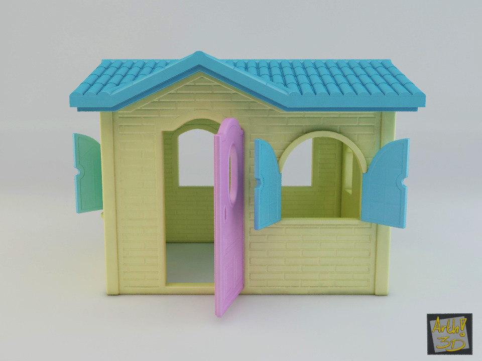 casinha toy house bricks 3d max