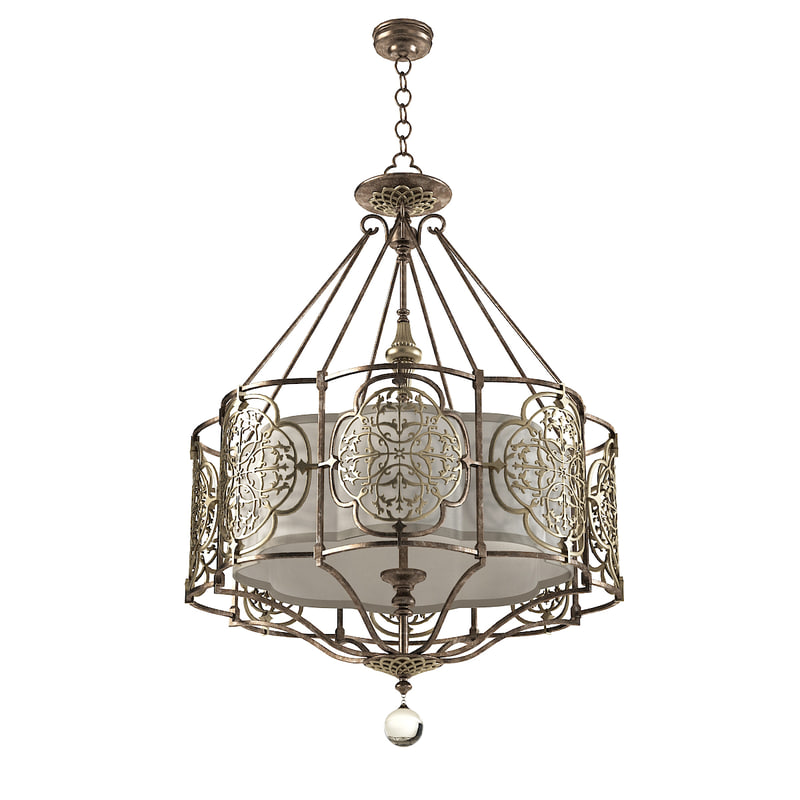 3dsmax feiss forged chandelier