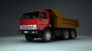 soviet truck kamaz 5511 3d model