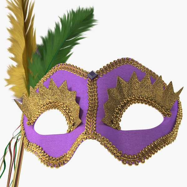 mardi gras mask 2 3d model