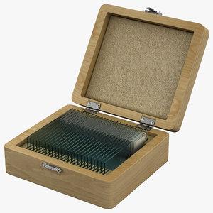 3dsmax prepared microscope slides celestron