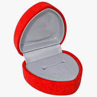 Red Heart Ring Box