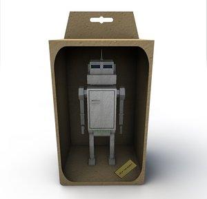 vintage robot box max