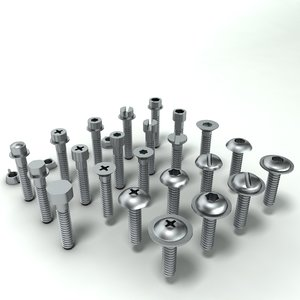 nuts bolts screws 3ds