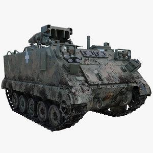 3d model of army armored vehicle m901