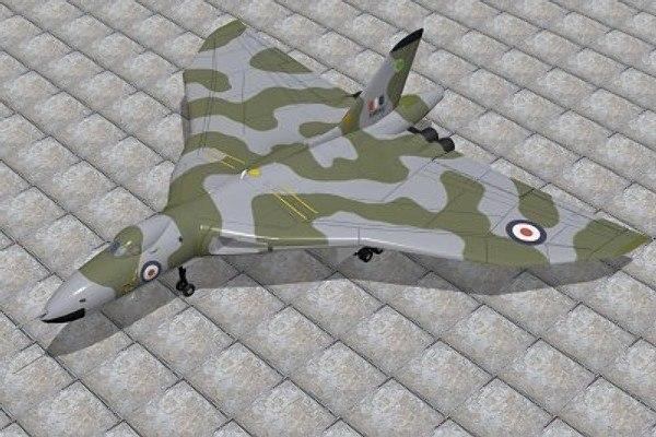 avro vulcan 3d model