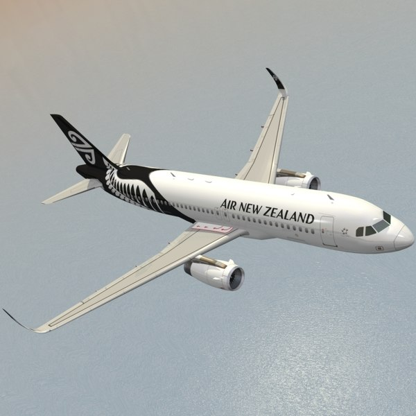 3d model sharkleted a320neo air new