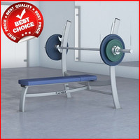weights olympic bench press 3d max