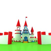 small castle house 3d max