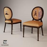 3d max creazioni flammetta chair